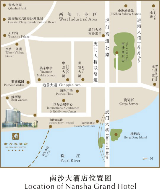 Nansha Grand Hotel Map